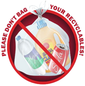 Please don't bag your recyclables.