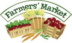 Vegetable below the words Farmer's Market.