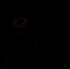 Silhouette of football runner.