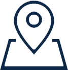 Map Location Marker Icon in blue