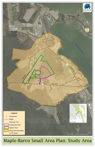 Maple and Barco area are outlined on the map to show the portion of the county being studied.