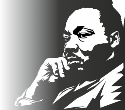 Silhouette of Martin Luther King Jr.