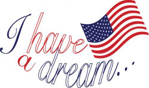 I have a dream with American Flag clipart