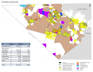 Moyock Small Area Plan Existing Land Use Map