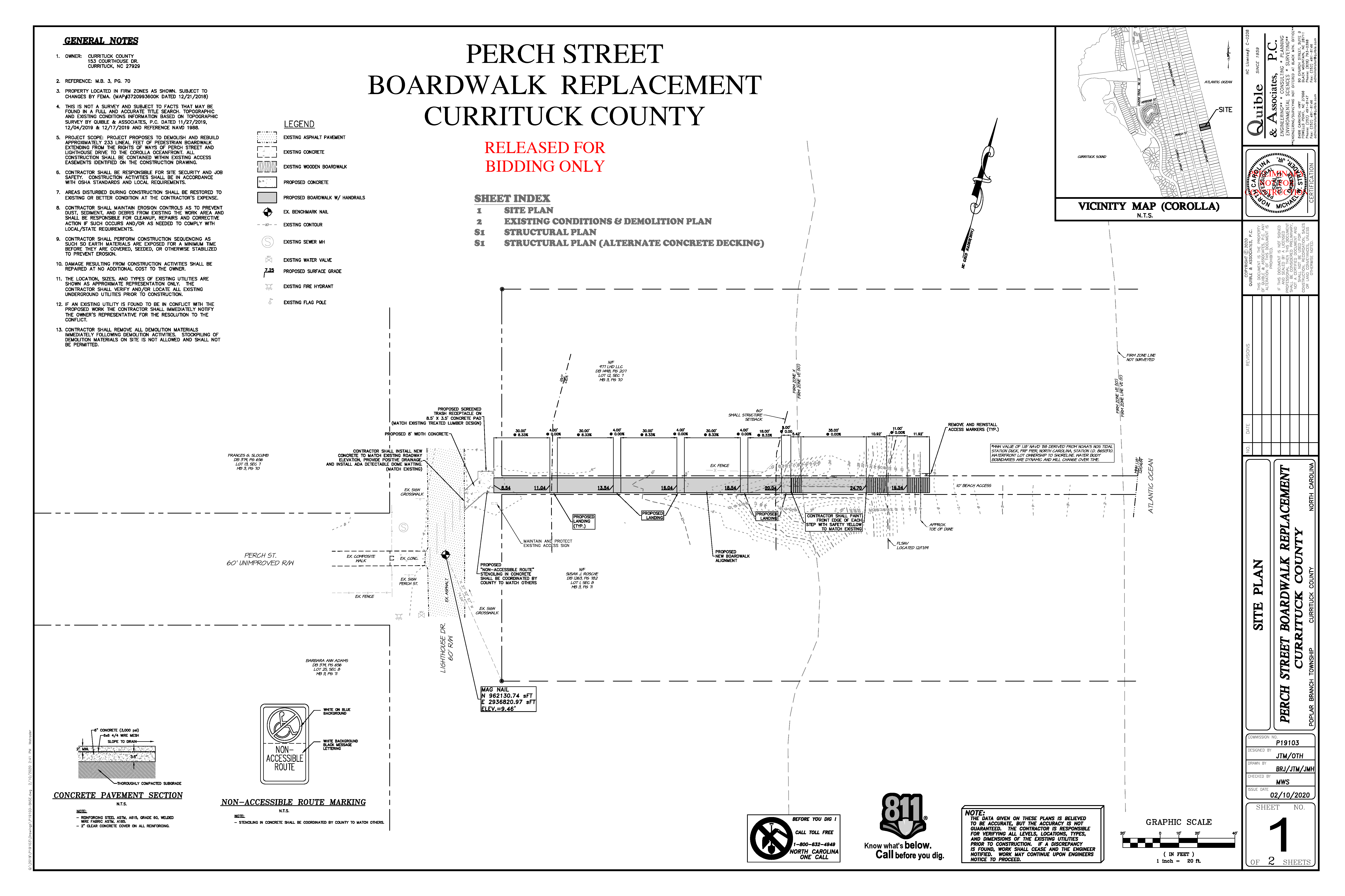 Perch Street Boardwalk Replacement Site Plan