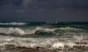 Storm Waves in the Ocean