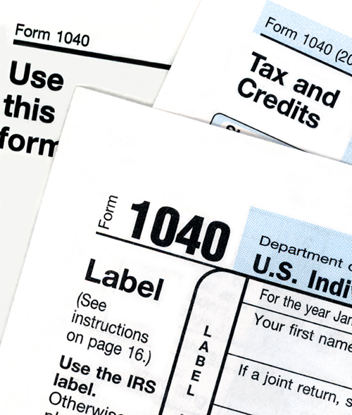 1040 Tax form header