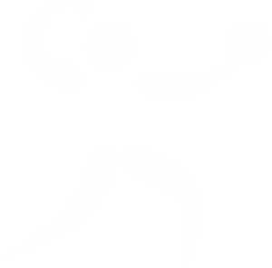 Outline of a person throwing a softball in white.